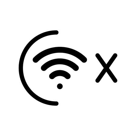 Signo sin conexión, icono de red inalámbrica desconectado
