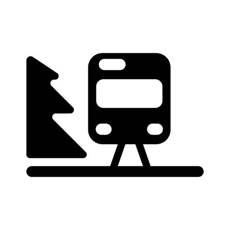 Train outline vector. Isolated on white. Illustration