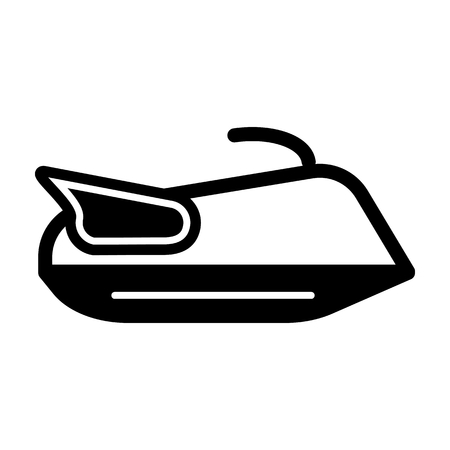 outboard: Water scooter icon outline contour vector isolated on white background Illustration