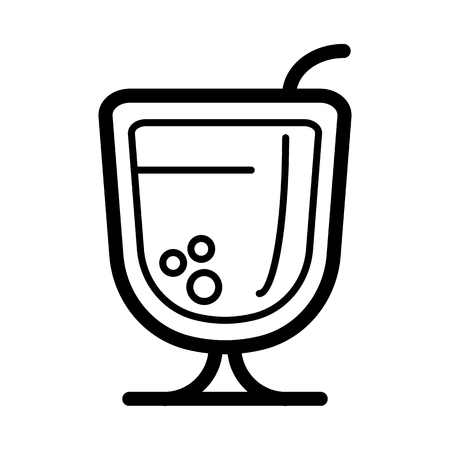 beach party: A cocktail line icon, outline vector logo, linear pictogram isolated on white.