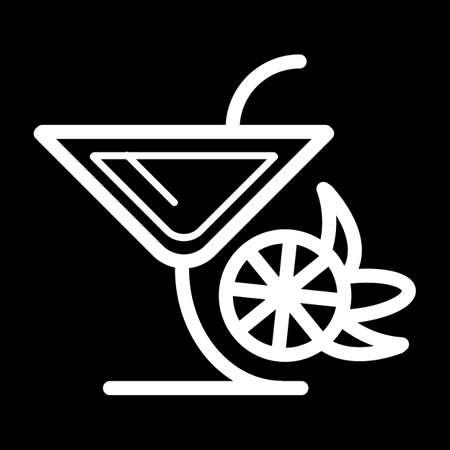Verre vecteur icône symbole noir ou logo. Verre Martinka avec cocktail. Banque d'images - 77840990