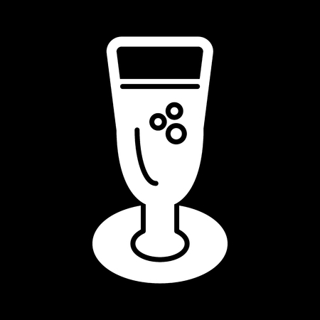 Linear icon of champagne. Vector icon.