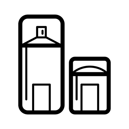 Dry deodorant line icon. Deodorant stick vector icon. Illustration