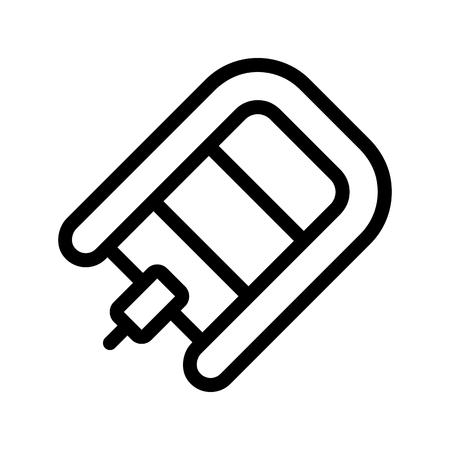 Powerboat pictogram plat. Illustratie geïsoleerd vectorsymbool