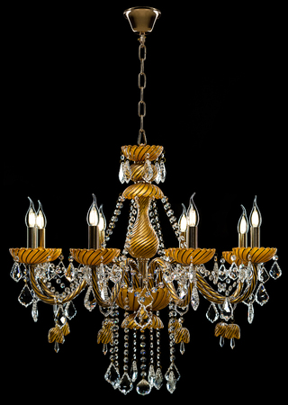 Contemporary gold chandelier isolated on black background crystal contemporary gold chandelier isolated on black background crystal chandelier stock photo 78366860 aloadofball Image collections