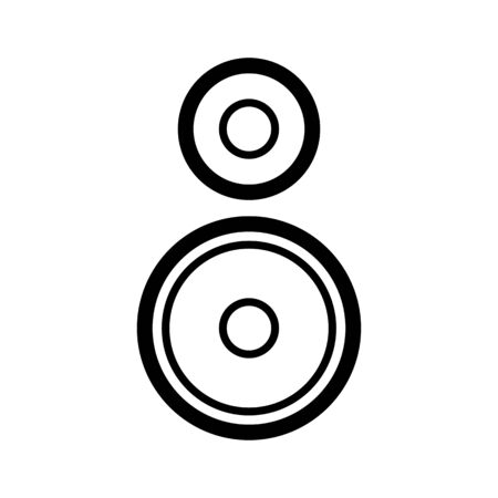 Loudspeaker icon. White background with black. Vector illustration.