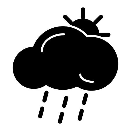meteo: lightning rain cloud sun meteo icon