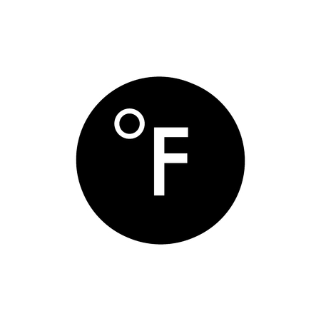 fahrenheit: Degrees Fahrenheit, vector icon Illustration