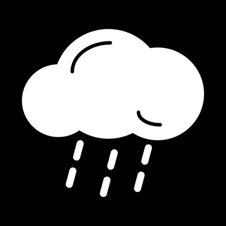 hard rain: Cloud and rain isolated. Vector art.