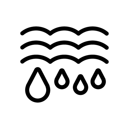 Water drops and waves icon. Falling drops Vector Illustration. thaw isolated on white.