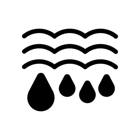 thawing: Water drops and waves icon. Falling drops Vector Illustration. thaw isolated on white.
