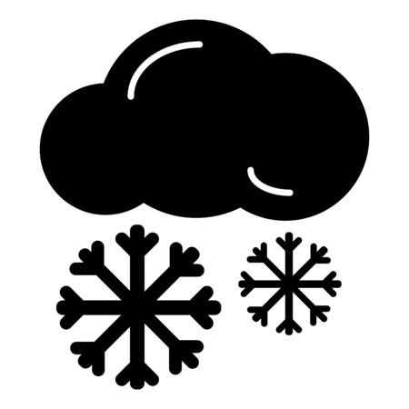 rainbow sky: Snow cloud meteo icon. Vector illustration isolated on white.