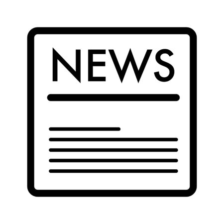 news vector icon. Black and white news illustration. Outline linear icon.
