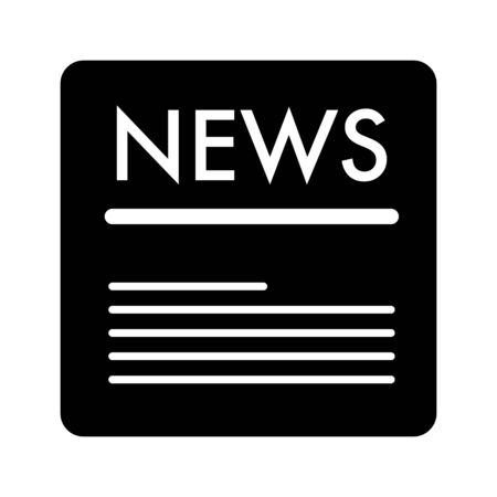 News vector icon. Black and white news illustration. Solid linear icon. Illustration