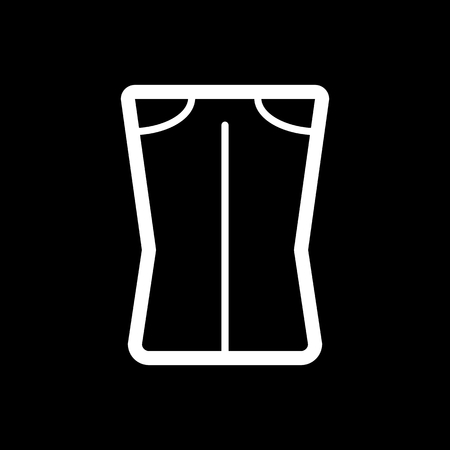 Woman pants vector icon. Black and white woman clothes illustration. Outline linear clothing icon. Imagens - 78690697