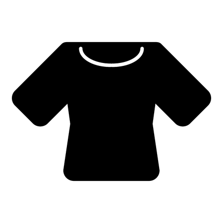 Woman t-shirt vector icon. Black and white shirt illustration. Solid linear clothing icon. Illustration