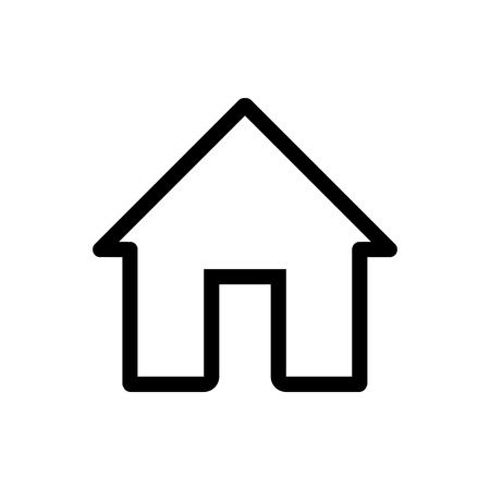 House vector icon. Black and white home illustration. Outline linear house icon for mobile applications. Imagens - 78840345