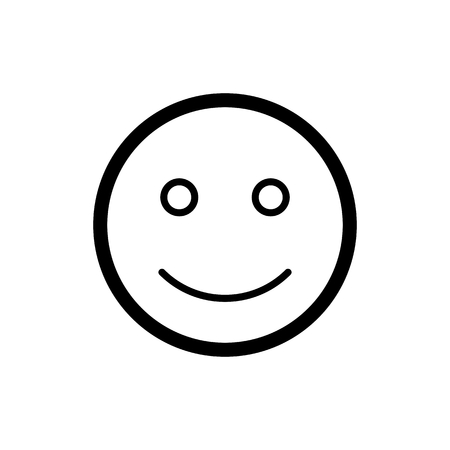 smiley lachend schwarz weiß