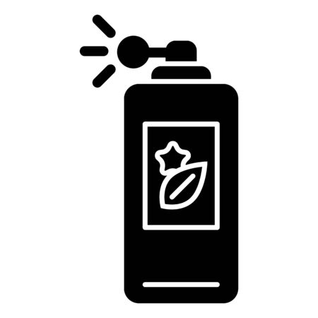 perfume atomizer: Perfume vector icon. Black body spray illustration on white background. Solid linear beauty and care icon. Illustration