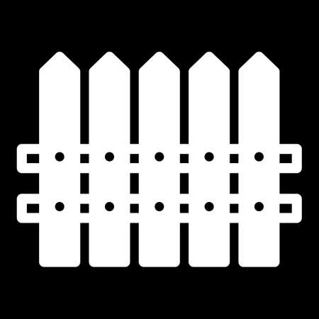 dissociation: Fence simple vector icon. Black and white illustration of house fence. Solid linear icon.