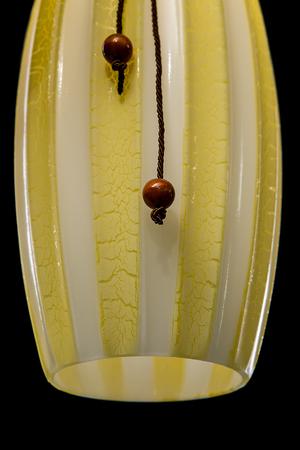 chandelier background: Modern chandelier for kitchen isolated on black background. Close-up
