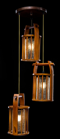 Contemporary chandelier for kitchen isolated on black background. Chandelier lamp for the living room interior. Imagens