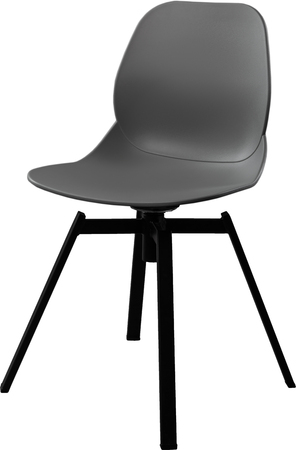 greengrass: Gray color plastic chair, modern designer. Swivel chair isolated on white background. furniture and interior Stock Photo