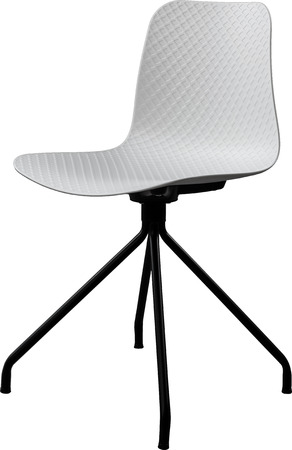 greengrass: White color plastic chair, modern designer. Swivel chair isolated on white background. furniture and interior Stock Photo