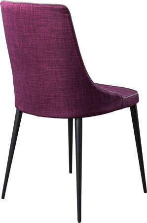Designer Purple Dining Chair On Black Metal Legs. Modern Soft ...