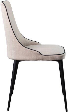 Designer Gray Dining Chair On Black Metal Legs. Modern Soft Chair ...