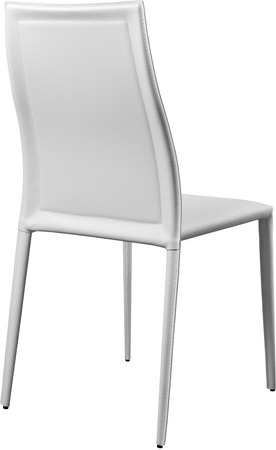 congressman: White color office leather chair. Modern designer chair for the interior. Isolated on white