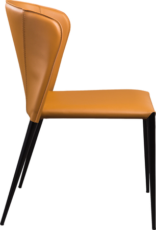 congressman: Ginger color office leather chair. Modern designer chair for the interior. Isolated on white