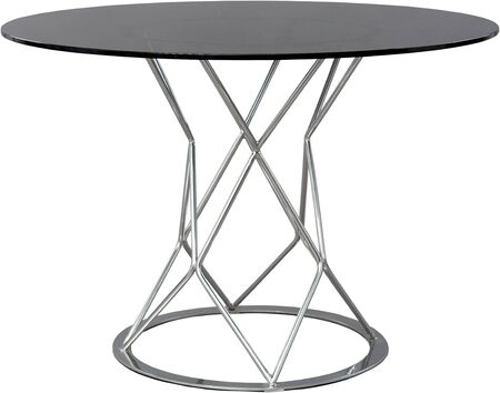 four objects: round glass dinning table. Modern designer, table isolated on white background. Series of furniture.