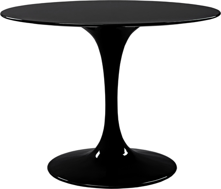 four objects: round black dinning table. Modern designer, table isolated on white background. Series of furniture.