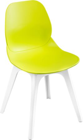 greengrass: Green color plastic chair, modern designer. Chair isolated on white background. furniture and interior