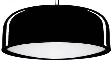 Black glossy hanging Lamp. lamp isolated on white.