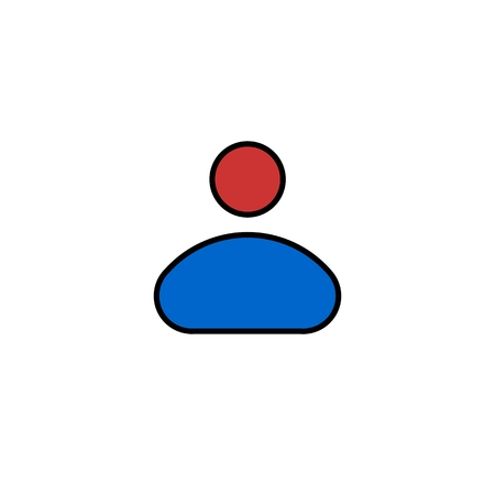 multiple personality: Person icon flat vector