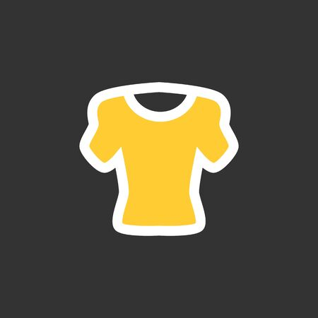 no shirt: Sport cloth flat vector icon. Sport t-skirt illustration. Eps 10
