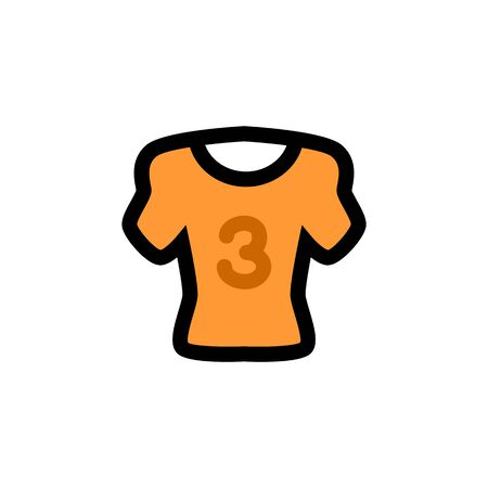 Sport cloth flat vector icon. Sport t-skirt illustration. Eps 10