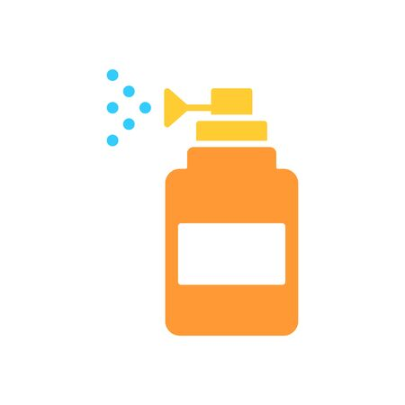 tonsillitis: Spray vector icon. Spray bootle solid flat design. Illustration