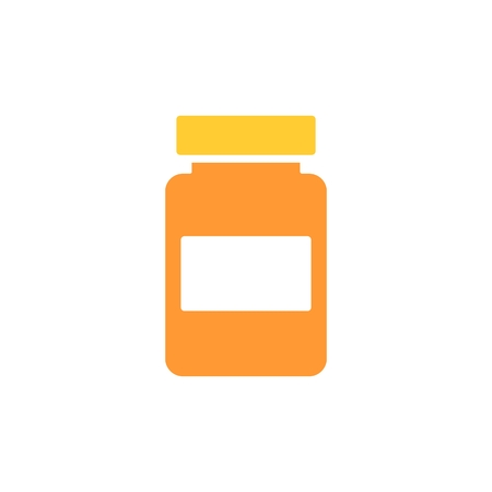 termometer: bootle of drugs isolated icon. vector illustration eps 10. Bootle of medicines solid flat icon. Illustration
