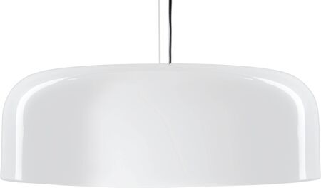 White glossy hanging Lamp. lamp isolated on white.