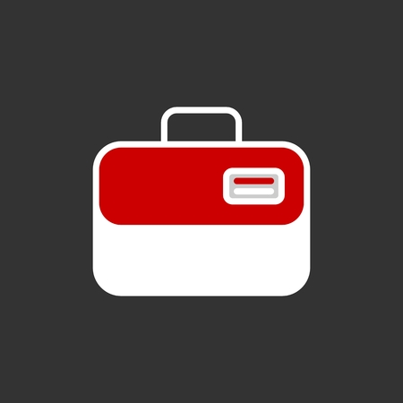 case: Ambulance case vector icon.