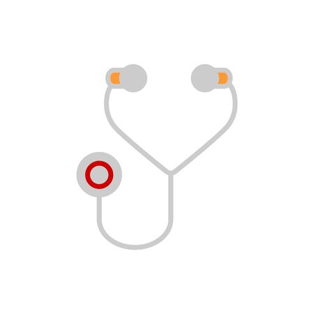 phonendoscope: stethoscope, phonendoscope medical isolated vector illustration Illustration