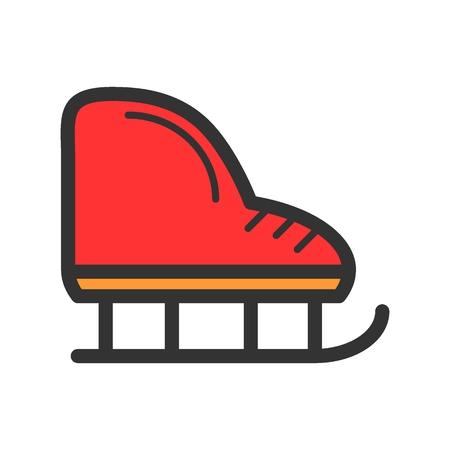 Figure skates color line icon.