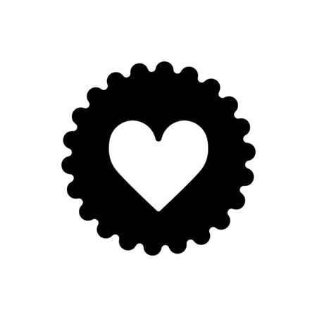 Illustration of a gear icon with a heart vector