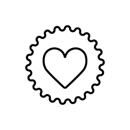 Illustration of a gear icon with a heart. vector illustration. simple flat icon. Illustration
