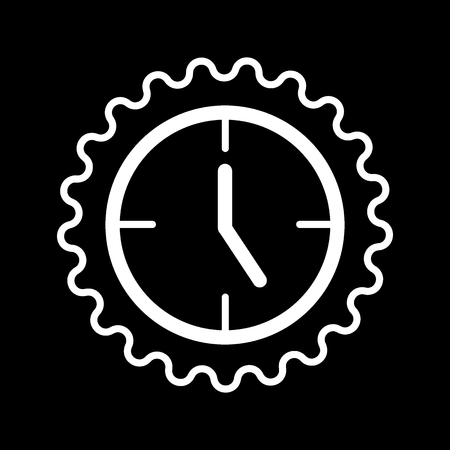 Clock icon in trendy flat style isolated on background. Contour design. Clock icon page symbol for your web site design Clock icon logo, app, UI. Clock icon Vector illustration, EPS10.  イラスト・ベクター素材