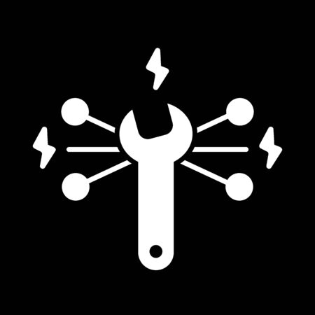 Vector Repair vector Icon. Wrench symbol. Flat solid icon isolated on black. Eps 10
