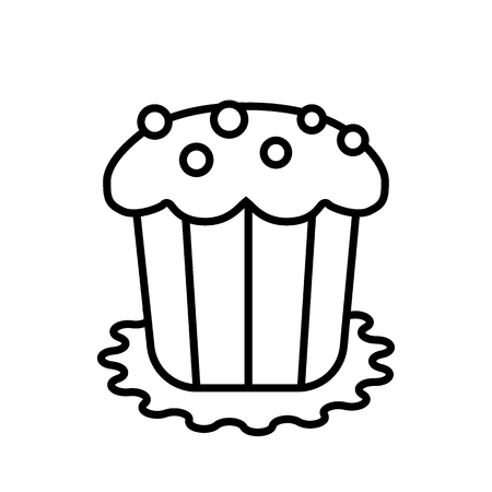 Easter cake line icon, Easter and holiday, sweet sign vector graphics. A linear pattern on a white background.